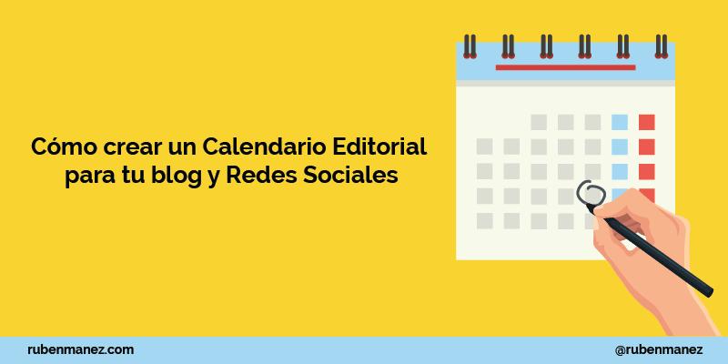 como crear un calendario editorial