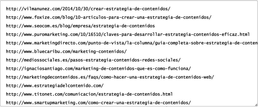 como extraer URL de la competencia