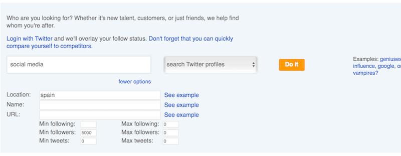 Followerwonk herramienta encontrar influencers en twitter