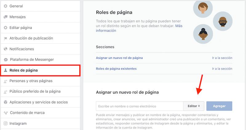 administradores pagina facebook