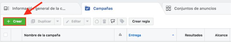 crear campana facebook