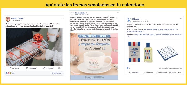 calendario publicaciones facebook