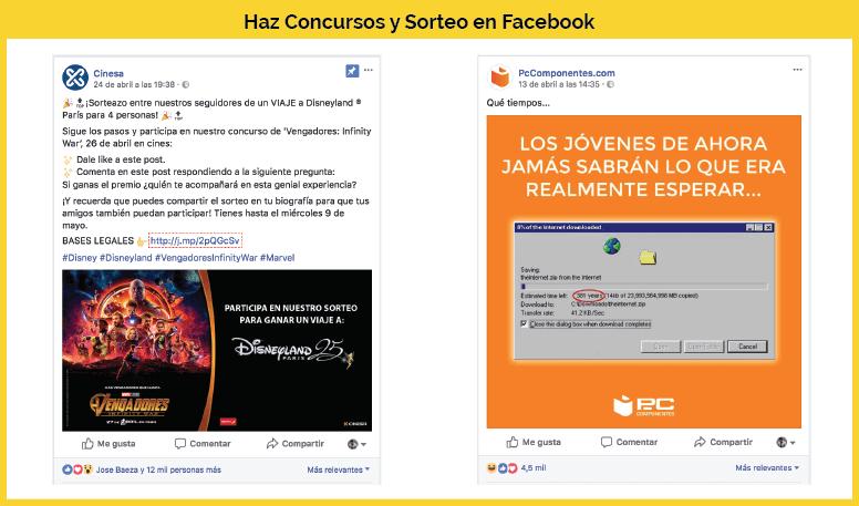 ejemplos concursos facebook