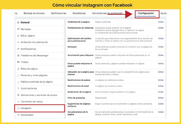 Cómo conectar Instagram con Facebook