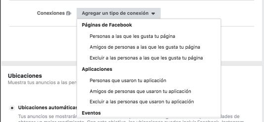conexiones personalizadas facebook