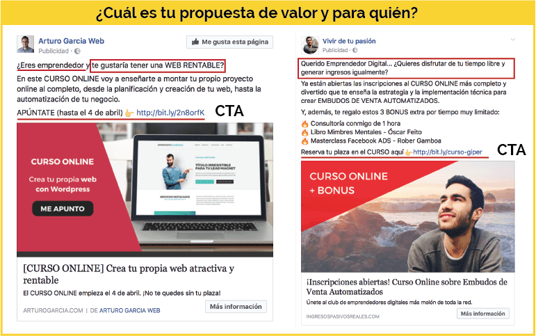 Copy para Facebook Ads