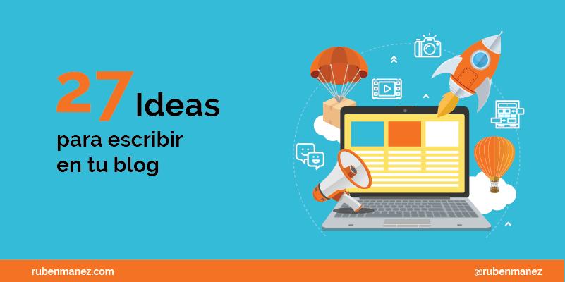 Temas para escribir en un blog