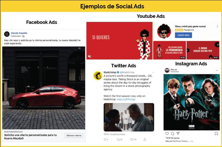 Ejemplos Social Ads