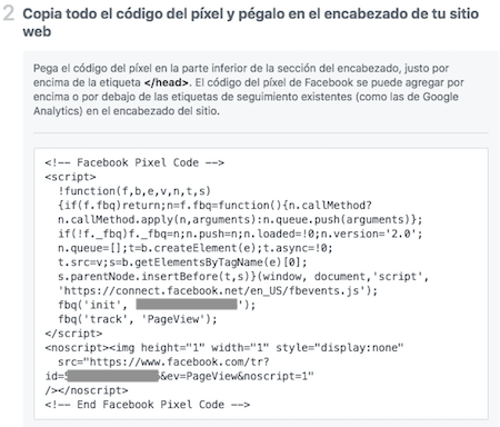 pixel de conversion de facebook