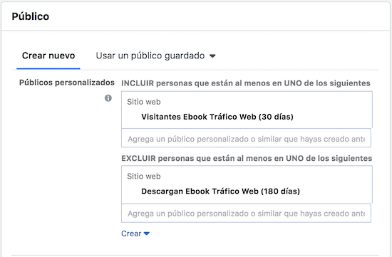 Anuncio remarketing en facebook