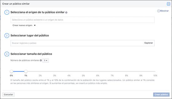 publicos similares en facebook