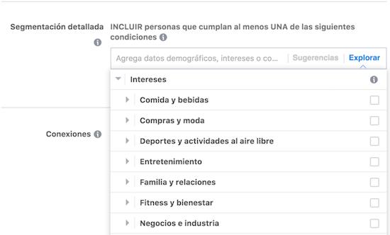 segmentacion por intereses en facebook