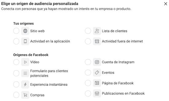 Públicos Personalizados Facebook