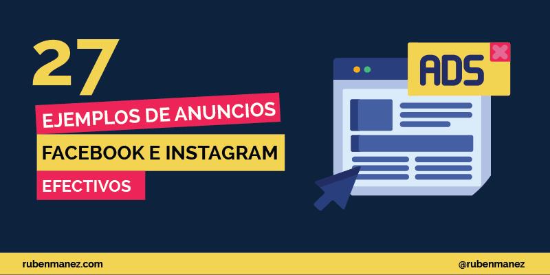 Ejemplos de anuncios en Facebook e Instagram