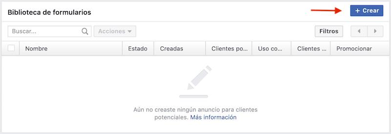 crear formulario facebook ads