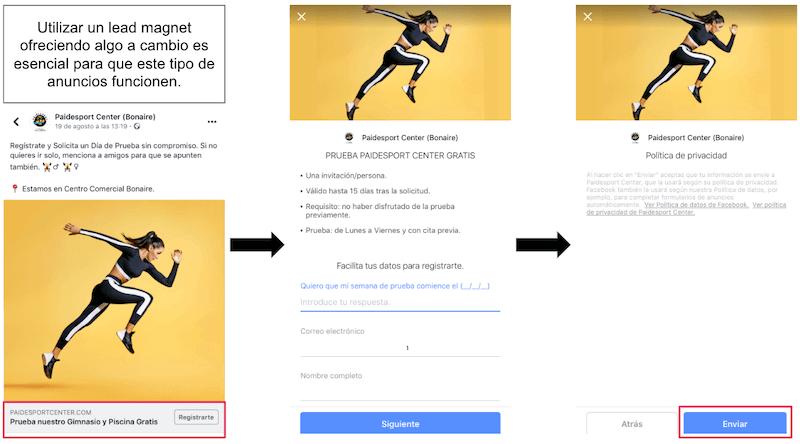 ejemplo anuncio generacion de clientes potenciales en facebook